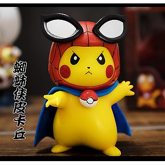 Pikachu Cos Avengers Iron Man Marvel Handmade Pokmon Car Doll Décoration