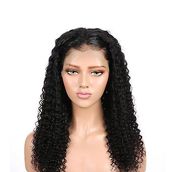 Long Curly Lace Front Human Hair Perruques Kinky Curly Perruque