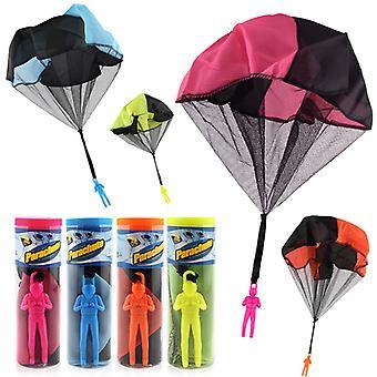 4 Pack Fallschirm Outdoor Geschenke Frei werfen Spielzeug Kinder fliegende Spielzeug Spiele
