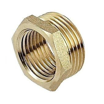 Male x Female thread pipe reduction nipple joiner fitting brass