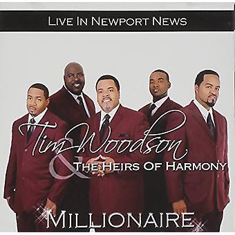 Tim Woodson & eredi di armonia - Millionaire: Live in importazione USA Newport News [CD]