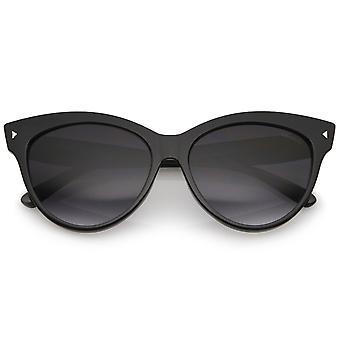 Women's Mod Oversize róg oprawie kot okulary przeciwsłoneczne 52mm