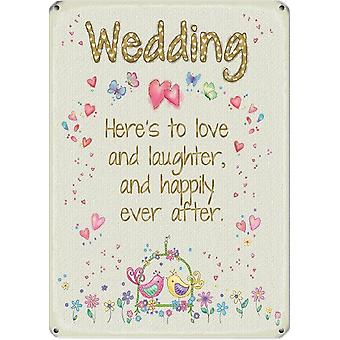 Medium Wall Plaque 200mm x 150mm - Wedding by The Original Metal Sign Co