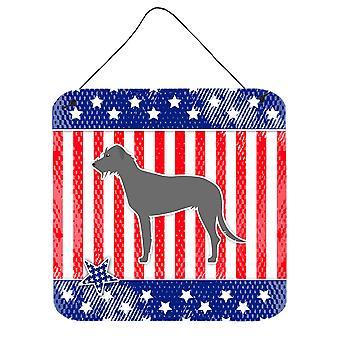 EUA patriótica Wolfhound irlandês de parede ou porta-impressões de suspensão