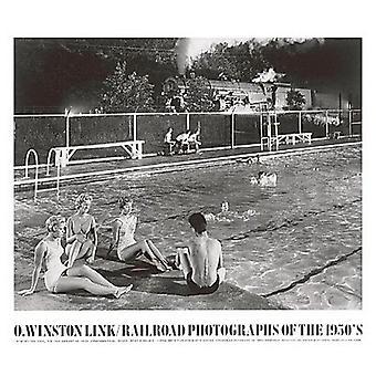 Swimmingpool plakat Print af O Winston Link (32 x 28)