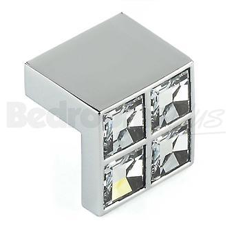 Swarovski Bar pokrętło szafki kuchenne drzwi obsługuje szafki szuflady sypialnia meble wyciągnąć uchwyt Polerowany chrom z sekcji pasek z kryształami Swarovski.