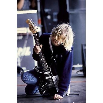 Impresión de Poster de Kurt Cobain guitarra (24 X 36)