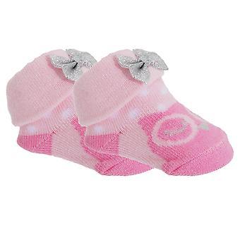 Baby tyttöjen puuvilla rikas pöllö/pupu sukat lahja pussi (kpl pakkaus 2)