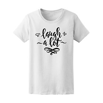 Laugh A Lot Curvy Quote Tee Women's -Image by Shutterstock