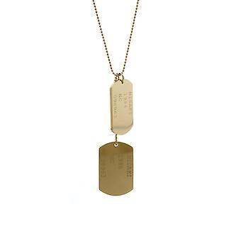 Misaki Ladies Necklace Stainless Steel Gold BLONDIE QCUPBLONDIE