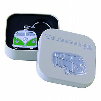 VW Collection Camper Van Metal Keyring in gift box - Green