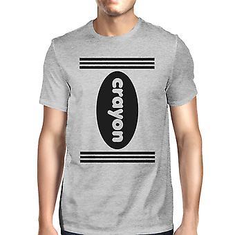 Oliekridt Herre grå grafisk T-Shirt rund hals Halloween Tee Shirt