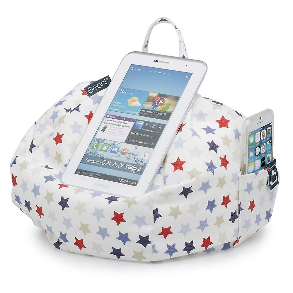 IPad, tablet & ereader bean bag stand-by ibeani - blauwe & rode sterren