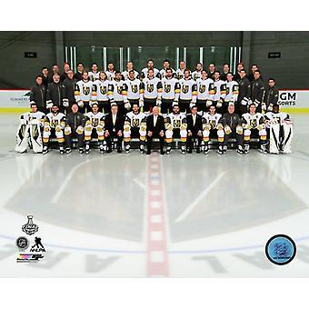 Vegas Golden Knights 2017-18 joukkue Photo Photo Print