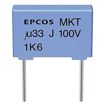 TDK B32520-C225-K 1 PC (s) MKT dunne film condensator radiale lood 2,2 μF 63 V DC 10% 7,5 mm (L x b x H) 10 x 6 x 12 mm