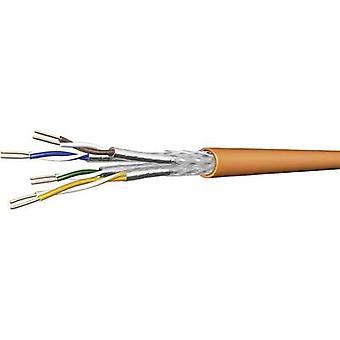 DRAKA 1001032-00250BR Network cable CAT 7 SF/UTP 4 x 2 x 0.25 mm² Orange Sold per metre
