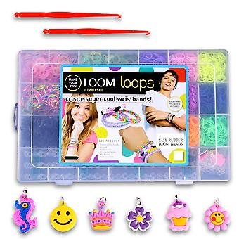 Loom Bands Kit & Clips Collection with 5500 Bandz + 170 Clips + 2 Hooks + 6 Pendants + 1 Loom Board 21 Beautiful Colors and Great Storage Case