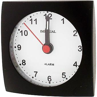 Gift Time Products Small Square Alarm Clock - Black
