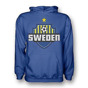 Schweden Land Logo Hoody (blau) - Kids