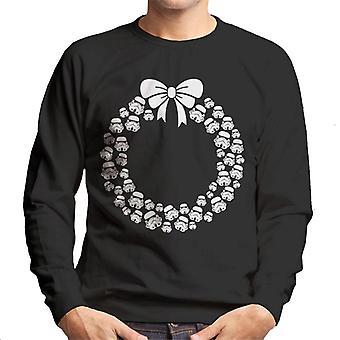 Original Stormtrooper Helmet Christmas Wreath Men's Sweatshirt