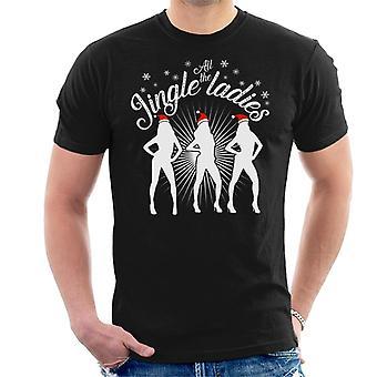 Alle de Jingle dames kerst T-Shirt voor mannen