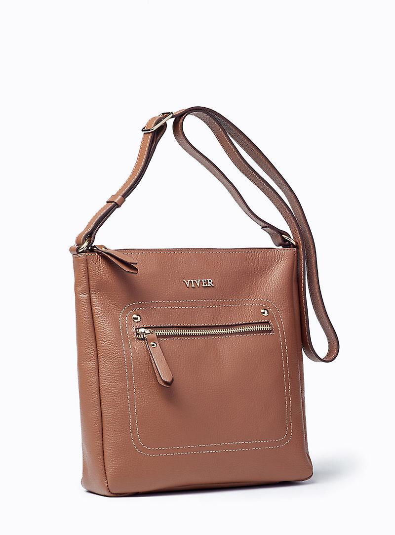 Viver Leather Crossbody Bag Isa Brown