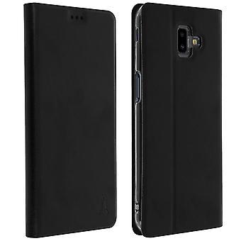 Akashi slim case, flip wallet cover for Samsung Galaxy J6 Plus - Black