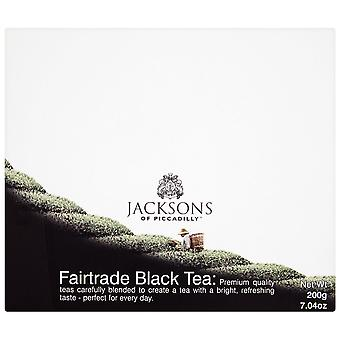 Jacksons of Piccadilly Fairtrade String & Tag Black Tea Bags