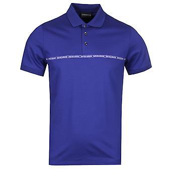 Emporio Armani ruban Logo bleu Polo Shirt