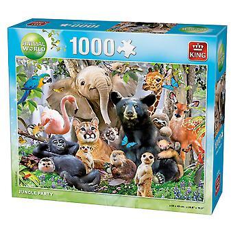 Koning Jungle partij Jigsaw puzzel (1000 stuks)