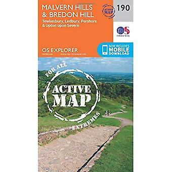 OS Explorer Karte aktiv (190) Malvern Hills und Bredon Hill (OS Explorer aktive Karte)