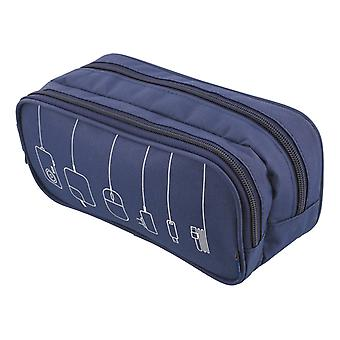 STREETZ geantă de accesorii 2-tavă cu 4 buzunare poliester albastru