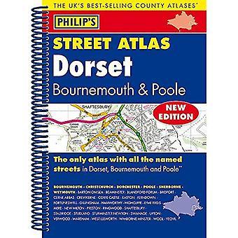 Philip's Street Atlas Dorset, Bournemouth i Poole: spirala Edition (atlasy ulicy Filipa)