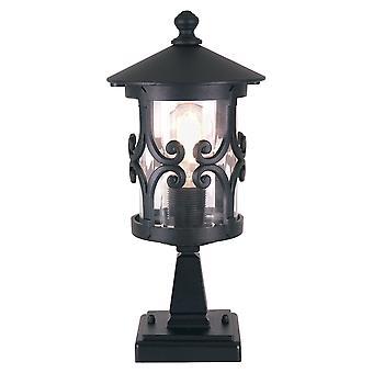 Hereford svart utendørs pidestall Light - Elstead belysning Bl12 svart