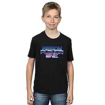 Valmis pelaaja pojat kaltevuus Logo t-paita