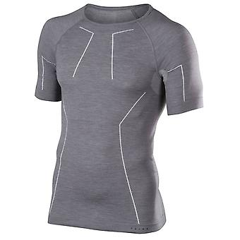 Falke wol Tech Shirt met korte mouwen - Heather Grey