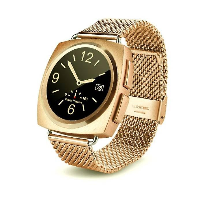Stuff Certified® Original A11 Smartwatch Smartphone Fitness Sport Activity Tracker Watch OLED Android iOS iPhone Samsung Huawei Gold Metal