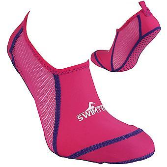 كشف مكافحة سويمتيتش للأطفال البنات مكافحة والثاليل حوض سباحة المياه جورب الوردي