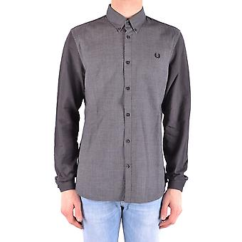 Fred Perry Ezbc094026 Men's Grey Cotton Shirt