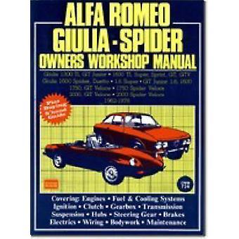 Alfa Romeo 1300 - 1600 - 1750 - 2000 1962-78 Autobook - Easy to Use -