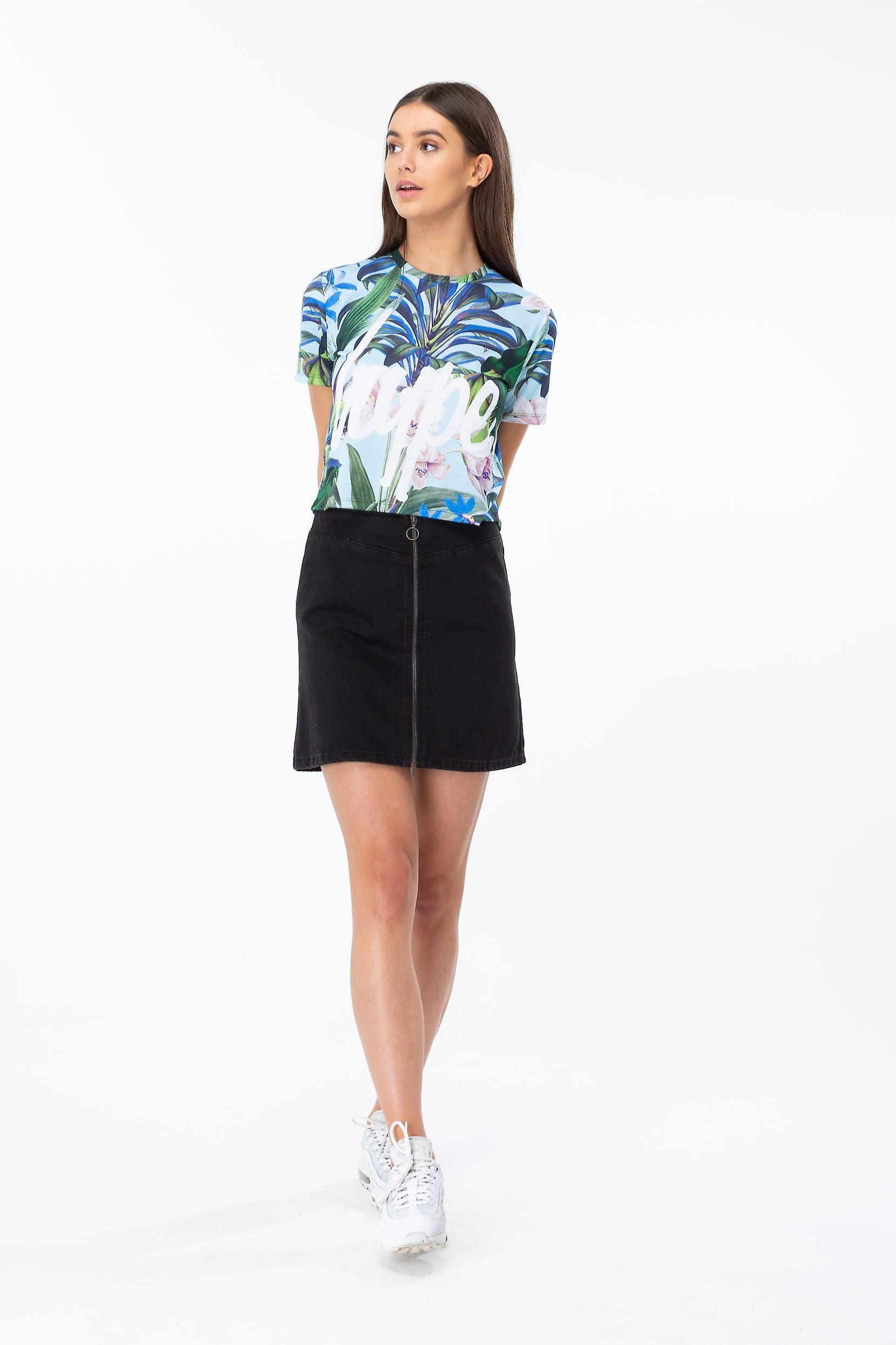 Hype Tropics Script Women's Crop T-Shirt
