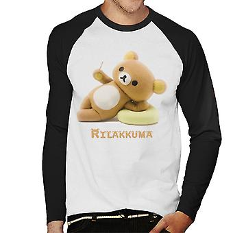 Laid Back Rilakkuma And Kaoru Men's Baseball Long Sleeved T-Shirt