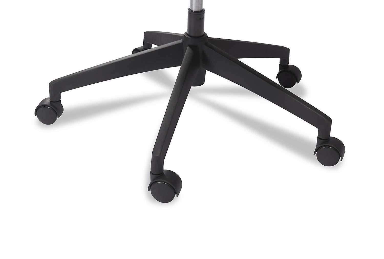 Furnhouse Nova Office Chair, Dark Grey Fabric, Plastic Base, 63x65x115-125 cm