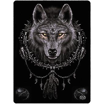 Spiral Direct Gothic WOLF DREAMS - Fleece Blanket|Wolf|Mystical|Celtic|Native American