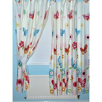 Borboletas forrado cortinas