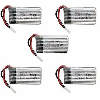 5 Pieces Replacement Lipo Battery 3.7V 380mAh for RC Quadcopter Hubsan X4 X 4 H107D H107C FPV Drone