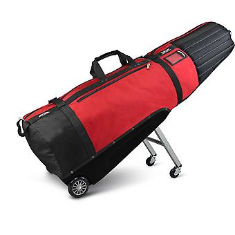 Sun Mountain ClubGlider Meridian Padded Golf Wheeled Travel Flight Cover Black/Red