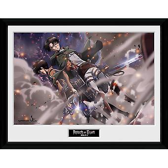 Angreb på Titan røg Blast indrammet Collector Print 40x30cm