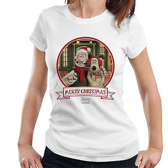 Wallace And Gromit Christmas Buddies Women's T-Shirt