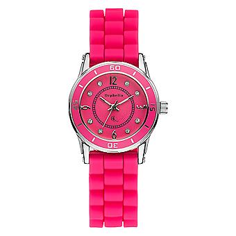 ORPHELIA Ladies Analogue Watch Everland Pink Silicone 122-1712-77